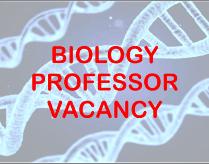 Vacancy - Biology Professor